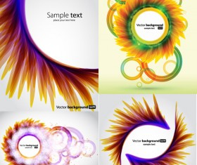 Colorful petals backgrounds vector material