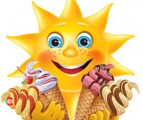 Different colored Ice cream vector 04