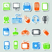 Link toIcons stickers vector 01