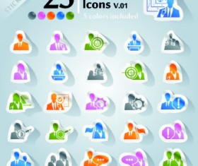 Icons stickers vector 14