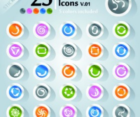 Icons stickers vector 15
