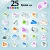 Icons stickers vector 18