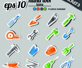 Icons stickers vector 03