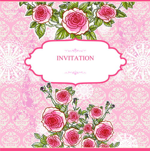 Flower Wedding Invitations Vector Card Vector Flower Free
