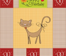 Cute Kid card design vector 01