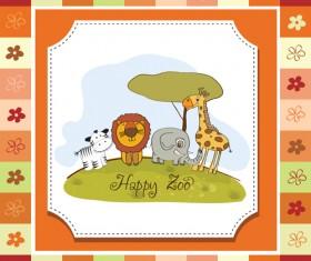 Cute Kid card design vector 04