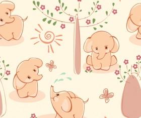 Cute Kid card design vector 06