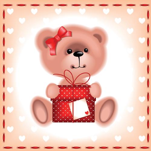 Cute Kid card design vector 07