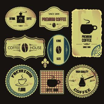 Vintage Label food vector 03