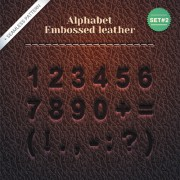 Link toSet of leather alphabet vector 02