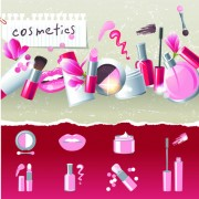 Link toCosmetics and make-up elements vector 03