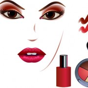Link toCosmetics and make-up elements vector 04