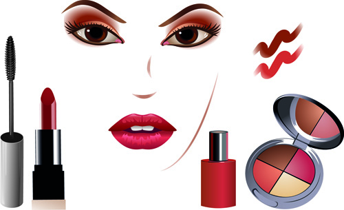 Cosmetics and make up elements vector 04 over millions vectors cosmetics and make up elements vector 04 toneelgroepblik Images
