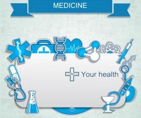 Medical elements vector banner 01