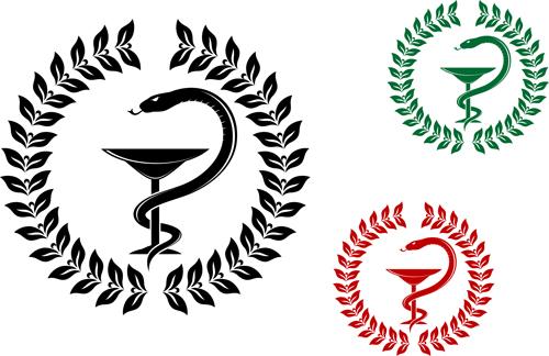 Vector Snake symbol design elements 02