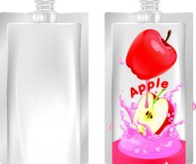 Packing juice design vector 03
