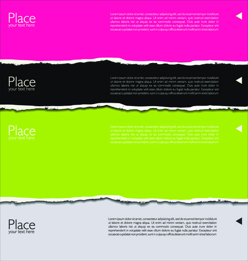 Colored torn paper backgrounds 04