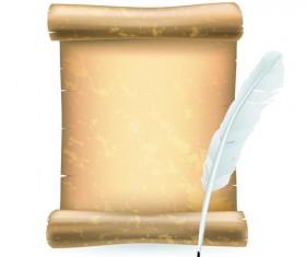 Paper Scrolls vector 04