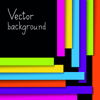 Colored Paper strips vector background 01