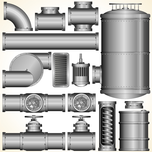 Set of Pipeline Parts vector 05