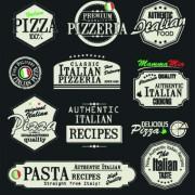 Link toPizza labels vector set 03