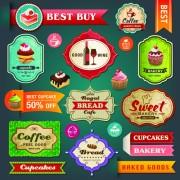 Link toRetro menu with labels vector 02