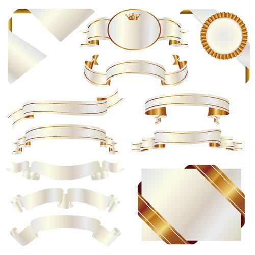 Shiny Ribbons design elements 01