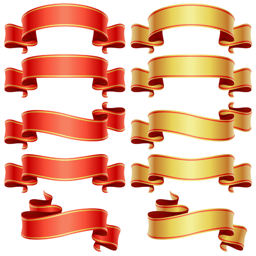 Shiny Ribbons design elements 03
