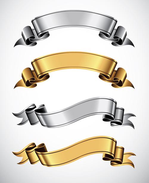 Shiny Ribbons design elements 04
