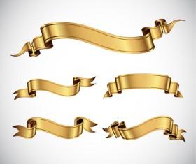Shiny Ribbons design elements 05