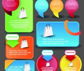 Vintage Shopping web banner vector 04