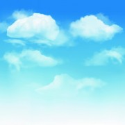 White clouds with blue sky vector 01