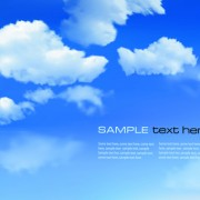 White clouds with blue sky vector 03