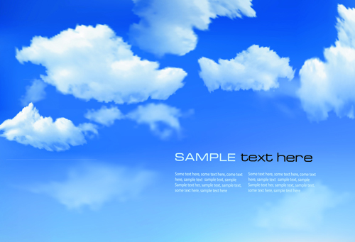 White clouds with blue sky vector 03 over millions vectors white clouds with blue sky vector 03 toneelgroepblik Gallery