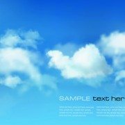 White clouds with blue sky vector 05