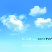 White clouds with blue sky vector 06