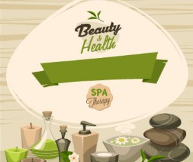 Spa therapy and beauty vector 02
