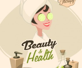 Spa therapy and beauty vector 03