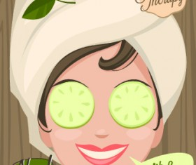 Spa therapy and beauty vector 04