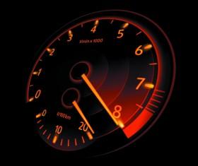 Speedometer vector set 02