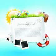 Link toSummer vacation backgrounds vector 01