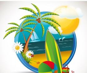 Summer beach Travel emblems 01