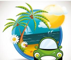 Summer beach Travel emblems 02