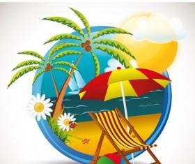 Summer beach Travel emblems 03