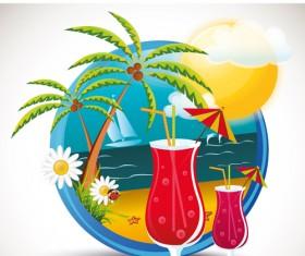 Summer beach Travel emblems 04