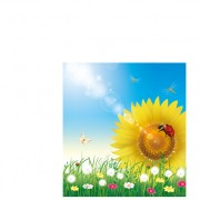 Link toShiny summer flowers vector 01