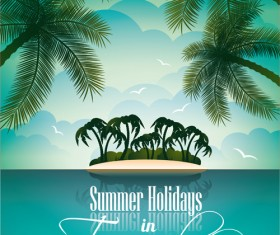 Summer party design elements vector 02