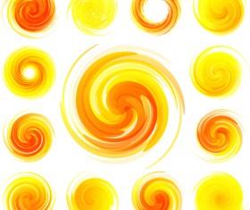Sun icons design elements 03