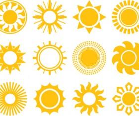 Sun icons design elements 04