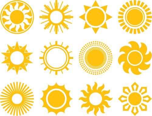 Sun Design Images Sun icons desig...